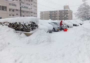 除雪が大変です