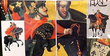 泰西王侯騎馬図屏風