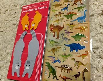 恐竜シール嬉しい!手帳にいっぱい貼るぞー