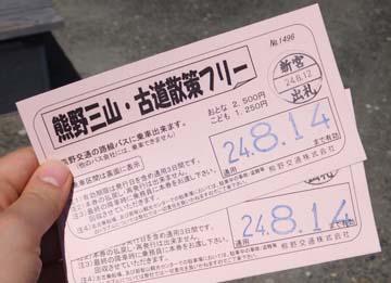 これが周遊切符です