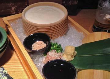 豆腐はちゃんと豆の味がしました